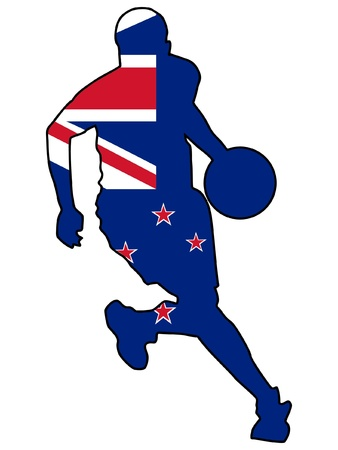 basketball colors of New Zealand Vector