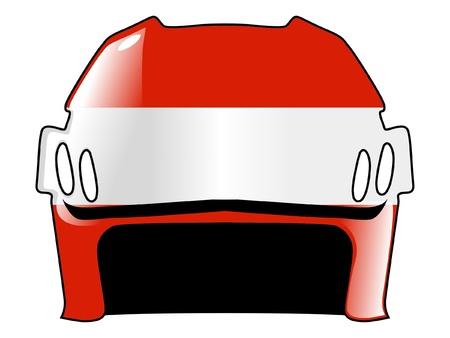 acolchado: hockey casco con los colores de Austria