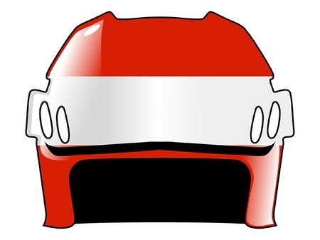padding: hockey helmet in colors of Austria
