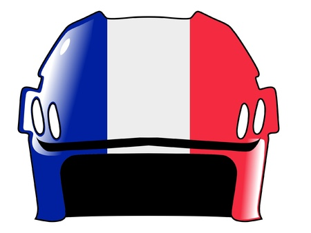 padding: hockey helmet in colors of France