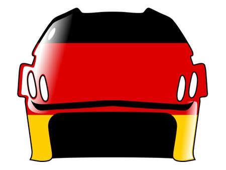 acolchado: hockey casco con los colores de Alemania