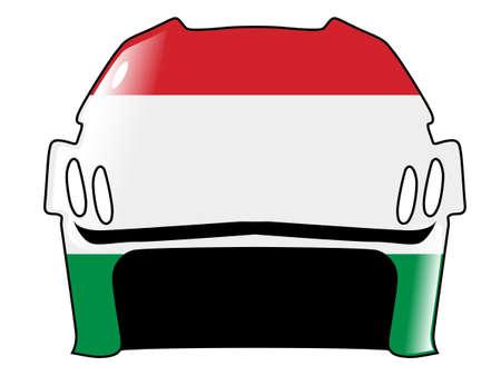acolchado: hockey casco en colores de Hungr�a Vectores