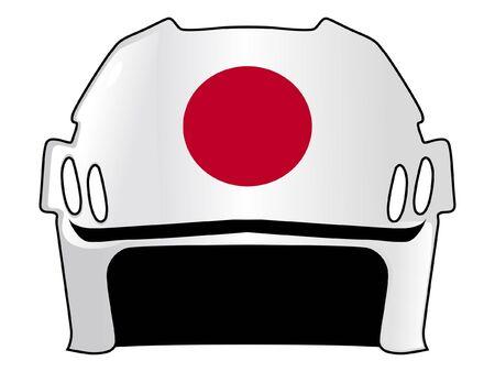 padding: hockey helmet in colors of Japan