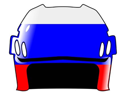 padding: hockey helmet in colors of Russia