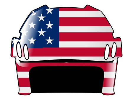 hockey helmet in colors of United States Stock Vector - 11751511