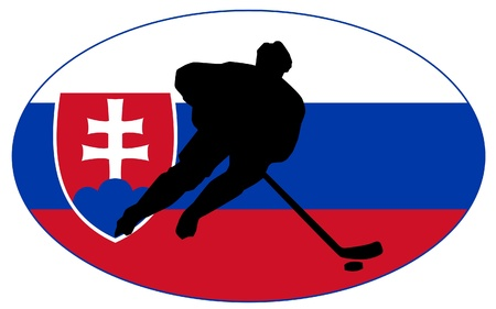 rung: hockey colors of Slovakia Illustration
