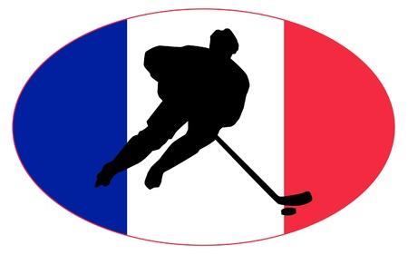 rung: hockey colors of France Illustration