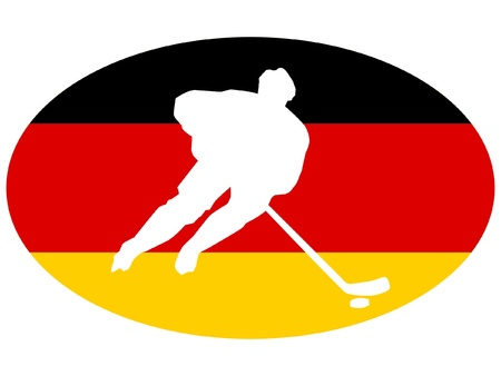 rung: hockey colors of Germany Illustration