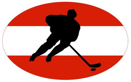 hockey colors of Austria Stock Vector - 11751443