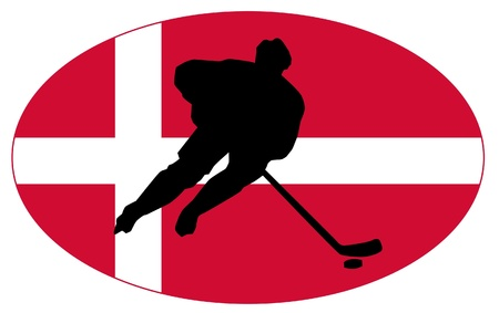 hockey colors of Denmark Stock Vector - 11751442