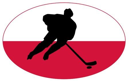 rung: hockey colors of Poland Illustration