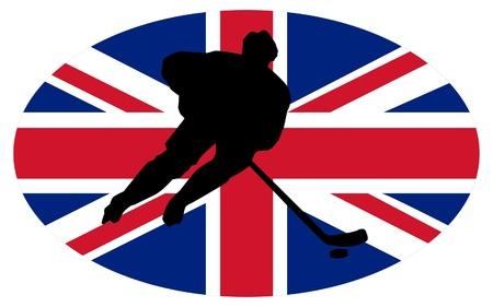 rung: hockey colors of Great Britain Illustration