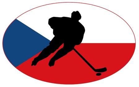 rung: hockey colors of Czech Republic
