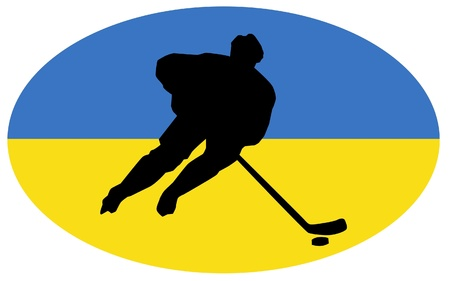 hockey colors of Ukraine Stock Vector - 11751417