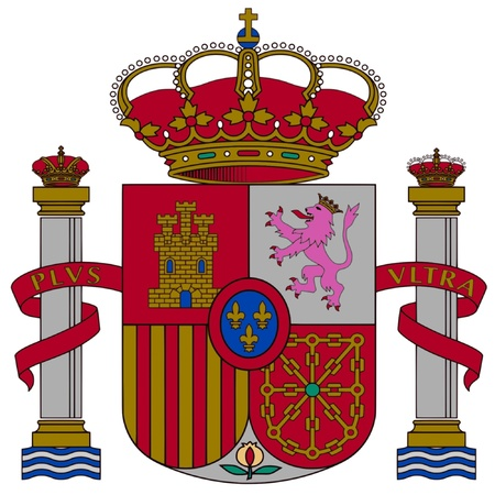flag of spain: Coat of arms of Spain Illustration