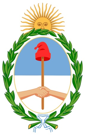 Coat of arms of Argentina Vector