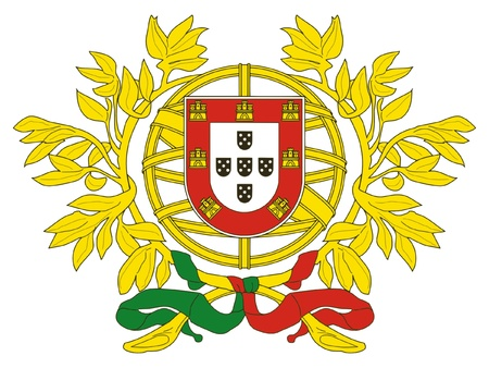drapeau portugal: Blason de Portugal Illustration