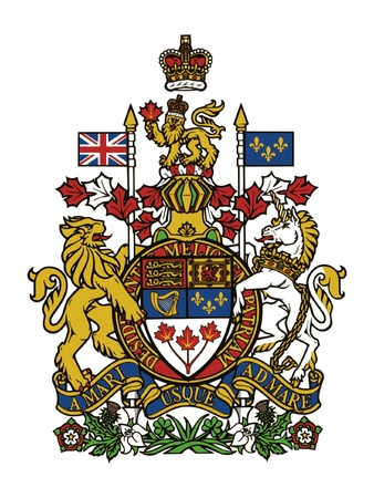 canada: Coat of arms of Canada Illustration