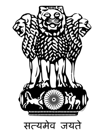 Coat of arms of India Illustration