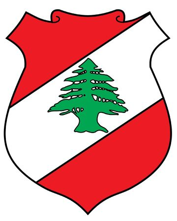 Coat of arms of Lebanon Vector
