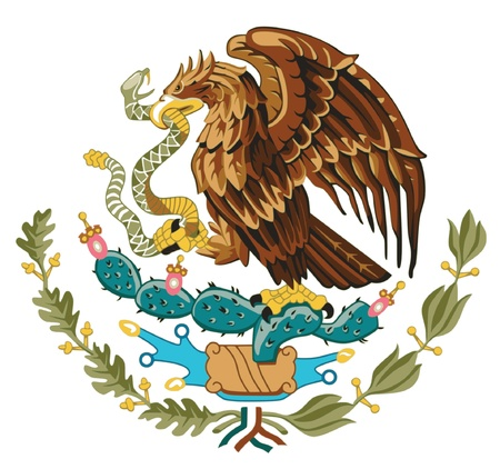 flag mexico: Coat of arms of Mexico Illustration