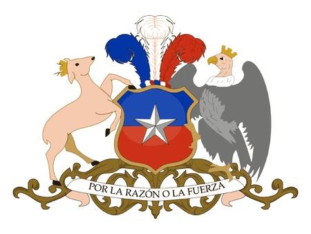 bandera de chile: Escudo de armas de Chile