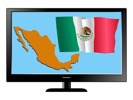 Mexico on TV Vector