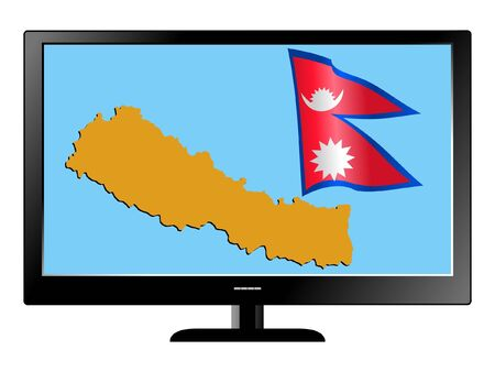Nepal on TV Vector