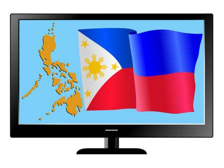 philippines flag: Philippines on TV