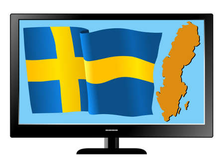 Sweden on TV Stock Vector - 11751453