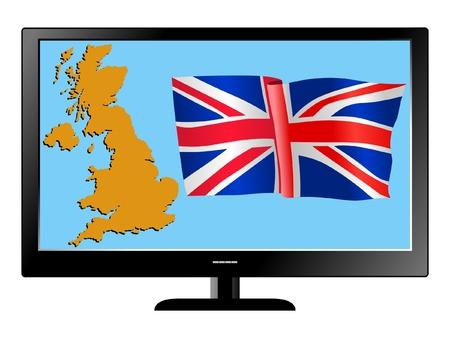 UK on TV Vector