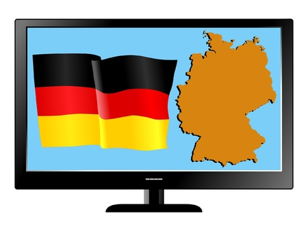 Germany on TV Vector