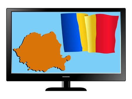 romania: Romania on TV Illustration