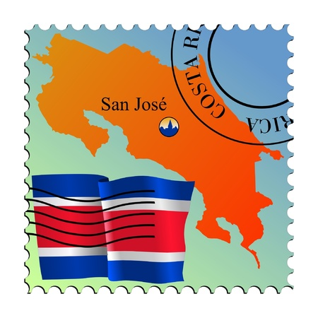 San Jose - capital of Costa Rica. Vector stamp Vector