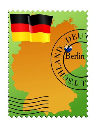 mailer: Berlin - capital of Germany. Vector stamp