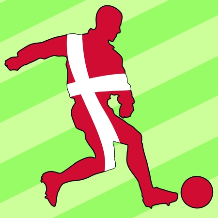football colours of Denmark Vector