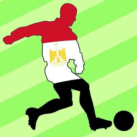 football colours of Egypt Vector