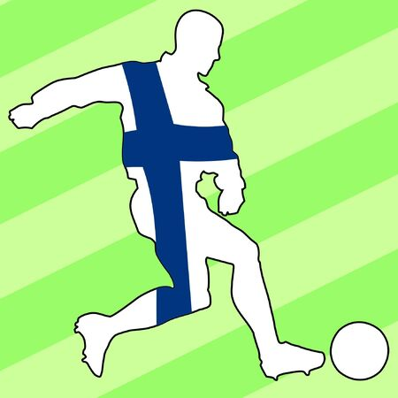 football colours of Finland Vector