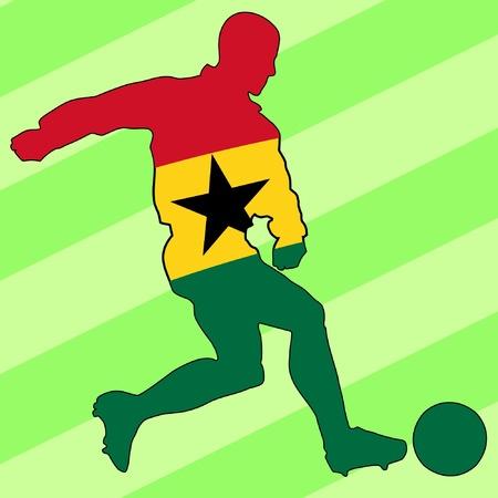 football colours of Ghana Vector