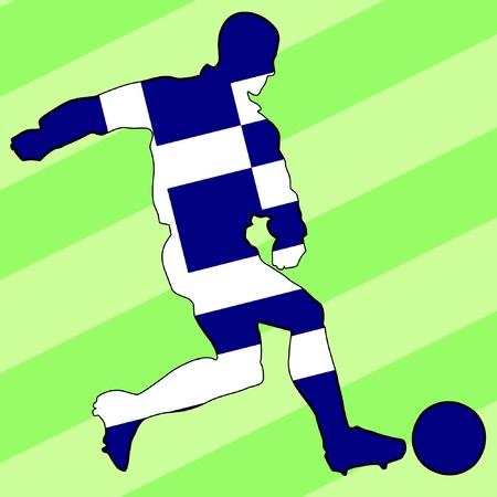 football colours of Greece Stock Vector - 11749166