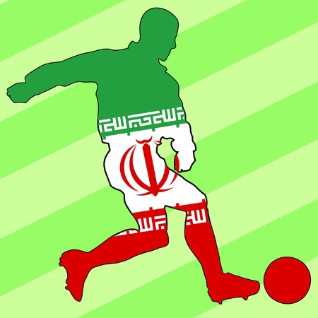 football colours of Iraq Stock Vector - 11749168