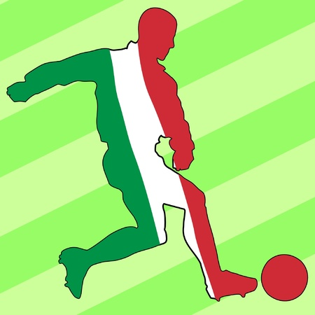 football colours of Italy Stock Vector - 11749234