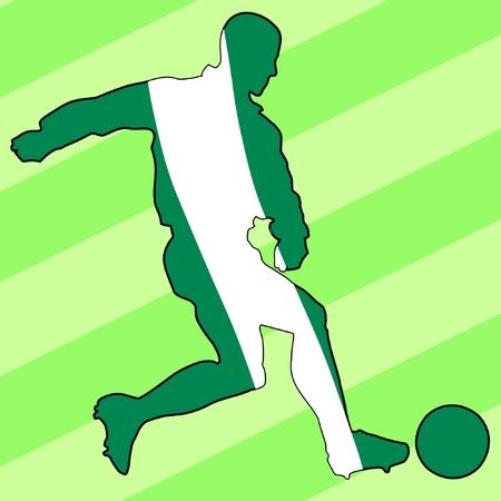 football colours of Nigeria Vector