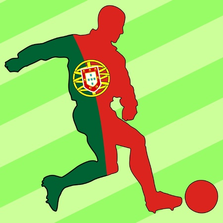 football colours of Portugal Illustration