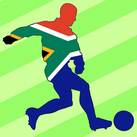 football colours of South Africa Stock Vector - 11749164