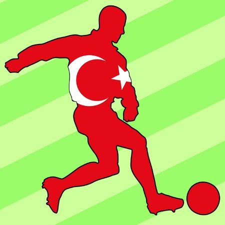 football colours of Turkey Vector