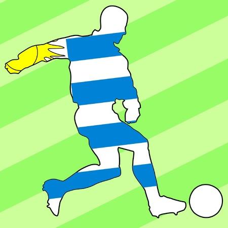 football colours of Uruguay Vector