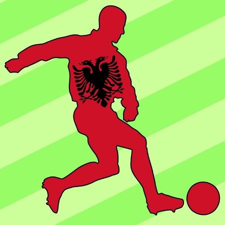 football colours of Albania Stock Vector - 11749165