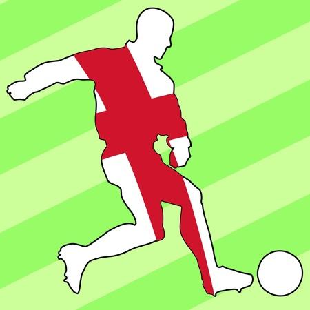 soccer: football colours of England Illustration