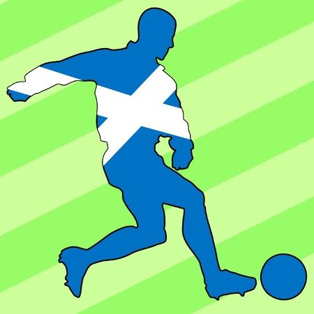 football colours of Scotland Vector